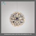 Fashion design G9 bulb restaurant pendant lighting with clear crystal ball chandelier light
