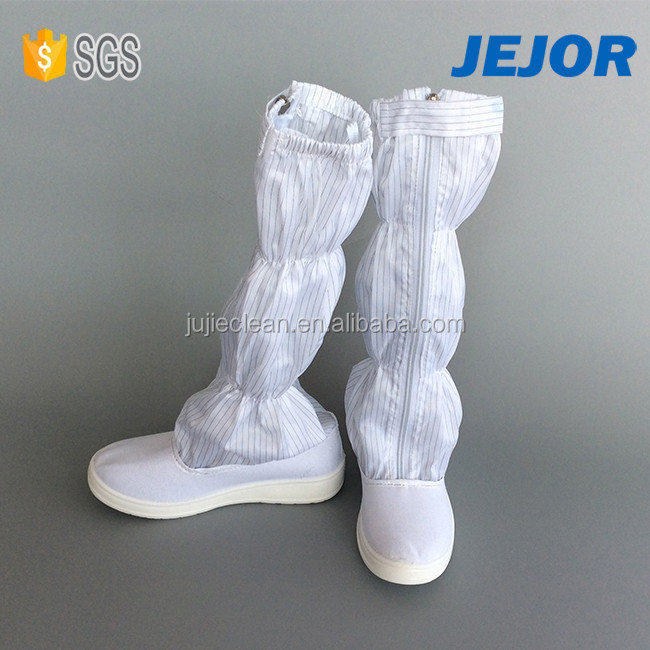 PU Outsole Canvas white Cleanroom Antistatic Working Boots