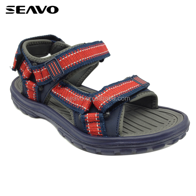 SEAVO SS17 new fashion braid buckle style men blue eva sport sandals