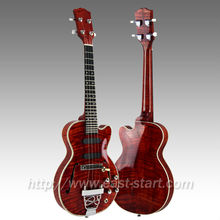 Cutaway Tenor All Solid Hollow Body Electric Jazz Ukulele