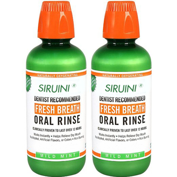 SIRUINI Dentist Recommended Fresh Breath Oral Rinse - Mild Mint Flavor, 16 Ounce