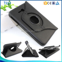 Hot sell PC Leathert book style flip case for sumsang T113,Rotation stand case for sumsang T113