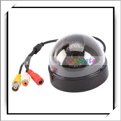 1/4 For Sharp 420TVL 12 IR LED Audio Night Vision Digital Dome Security Color CCD Camera