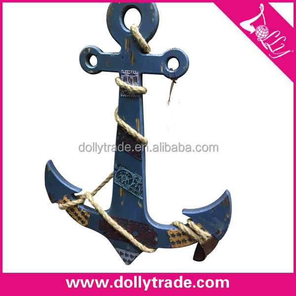 classical special wooden home decoration anchor craft art minds