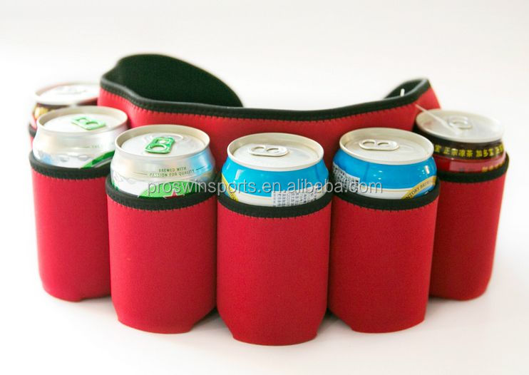 6 can tube cooler neoprene 6 pack can cooler bag 6 pack beer sling