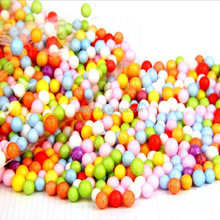 Big size 7-9mm Jumbo Rainbow Mix Assorted Color Smoothfoam Styrofoam Foam Balls For Slime Floam Foam