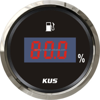 Top Quality!!! 52mm Digital fuel level gauge fuel level meter 0-190ohm signal for boat car