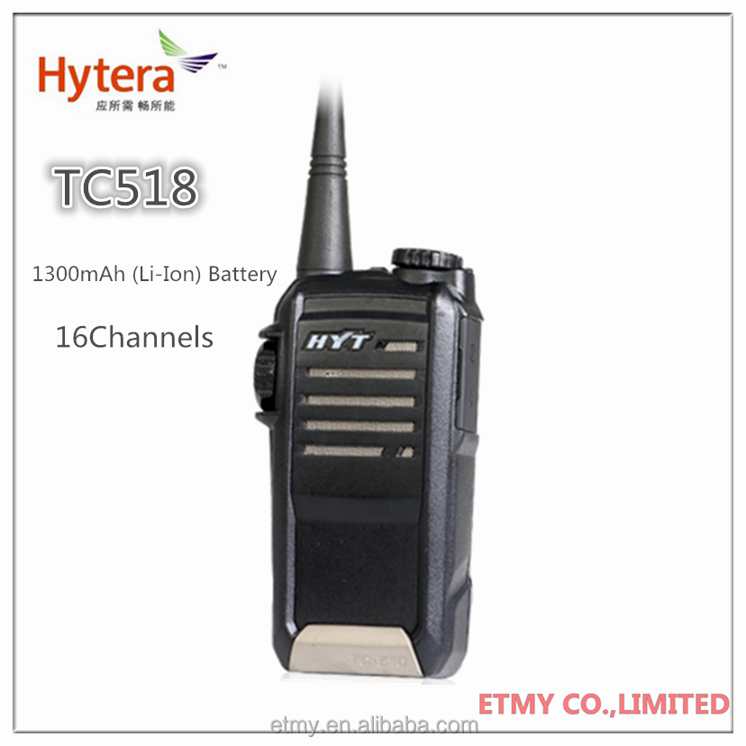Excellent Water & Dust Proof Performance Hytera TC-518 Two Way Radio