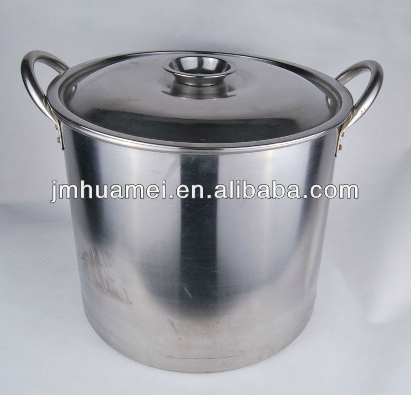 Mirror Face Stainless Steel Commercial Soup Pots