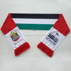 Wholesale Cotton Fabric Sublimation Printed UAE Flag Scarves UAE National Day Scarf