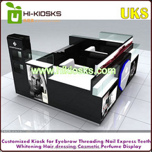 Luxury and fashion, smooth, and hard hair dressing kiosk salon kiosk furniture made in China