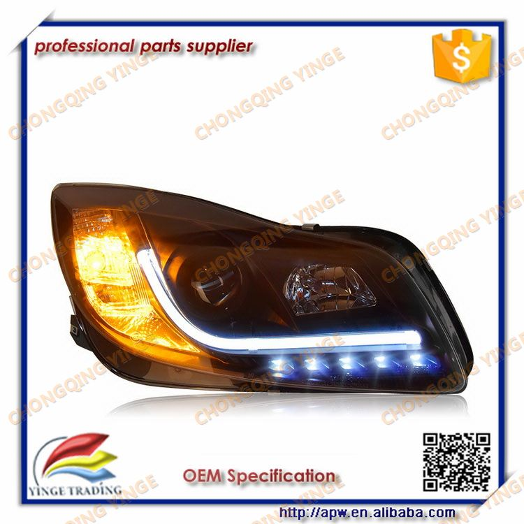 For Regal Insignia Led Strip Head Lamp With Angel Eyes