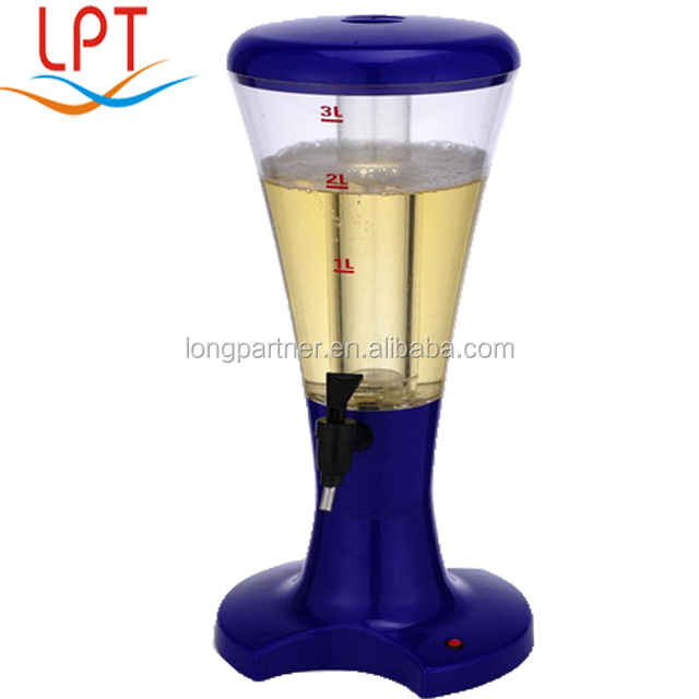 Chinese supplier 3 Liters LED portable <strong>wine</strong> dispenser / beer cooler