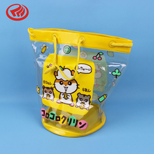 cute printing clear PVC plastic toy gift packaging bag for kids