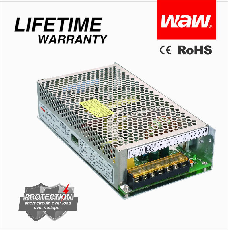 LIFETIME WARRANTY 12V 16.5A 200W MS-200-12 DC Switching Power <strong>Supply</strong> LED power <strong>supply</strong>