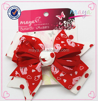 Valentine's day hair bows (approved by BV)