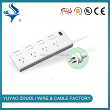 4 gang socket extension power board with independent switch