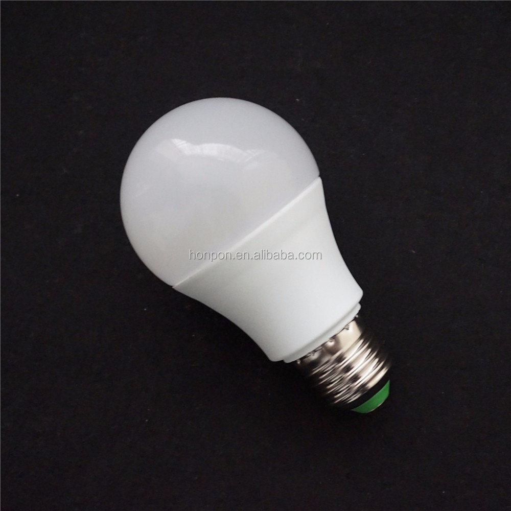 High lumen aluminum plastic led light a60 7w e27 led bulb smd5730