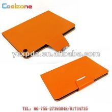 Fashionable leather case for Ipad mini, Ultrathin leather case for Ipad mni