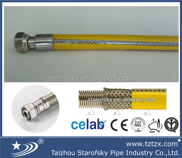 Flexible Metal Hose for Natural Gas EN14800 made in china
