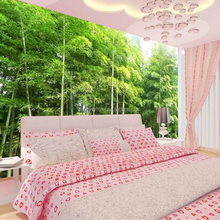 3D wall murals Chinese pastoral scenery bamboo forest wallpaper living room sofa background wallpaper