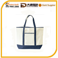 wholesale Blank cotton canvas tote bag with outside pockets