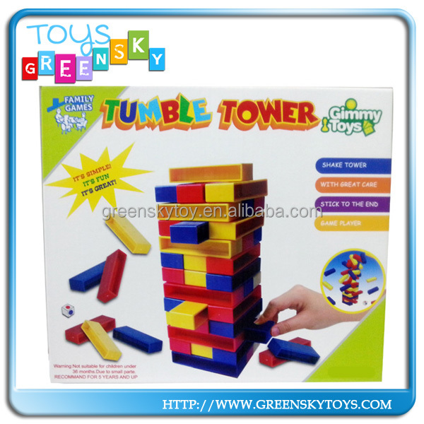 Plastic Educational tumble tower game toy