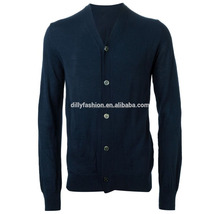 basic style cashmere button cardigan sweater mans