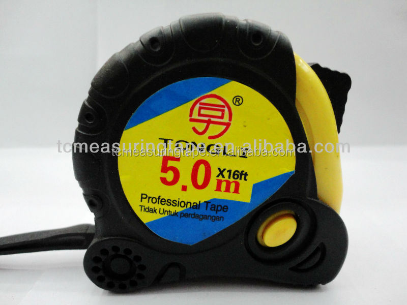 5M Rubber covered stainless steel measuring tape,one dollar shop item ,all kind of tape
