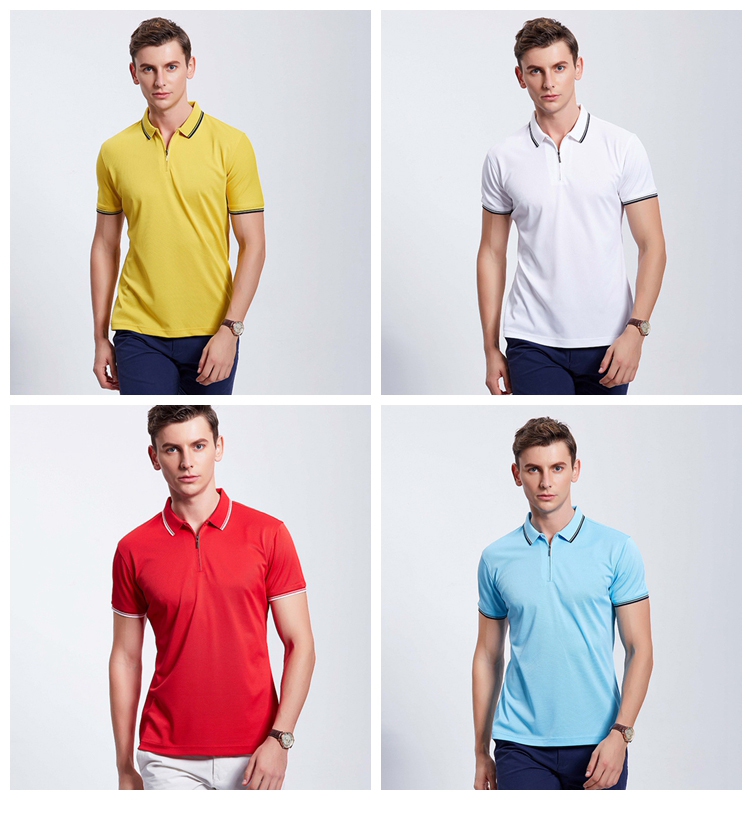 High Quality 100 Polyester Sale Mens Slim Polo T Shirts