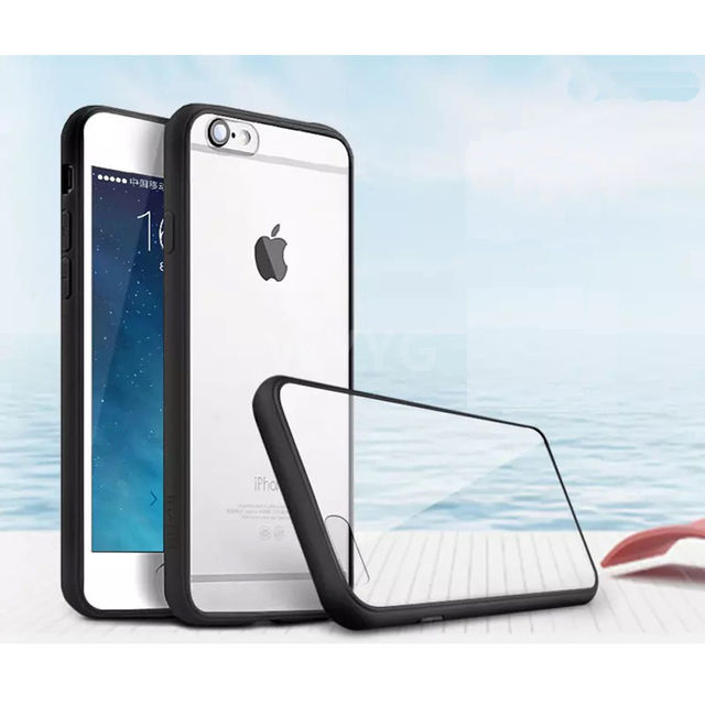 Wholesale Phone Accessories Premium TPU Plastic frame bumper back crystal clear transparent case cover for iPhone 6 6S Plus