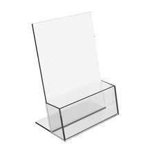 Clear Acrylic Brochure Display Stands Holders