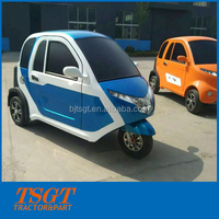most popular three wheel E-vehicle with heater closed cabin for passenger taxi use in Europe market