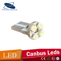 4SMD DC 12V T10 1210 SMD canbus white/ red/ blue/ yellow interior led lights for cars