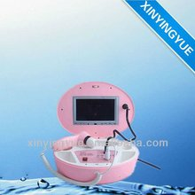 Portable muti-function hair & skin scope analyzer with screen