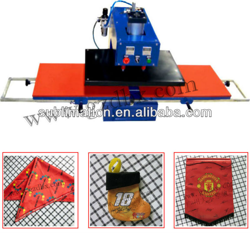 Pneumatic Double working position heat press machine
