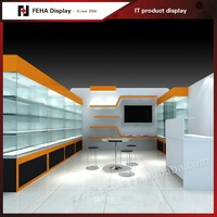 High End Mobile Display Showcase Furniture Design for Mobile Shop