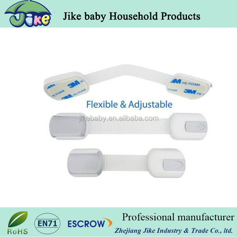 Safety baby products plastic drawer angle lock/small plastic corner lock/safety adhesive drawer angle lock
