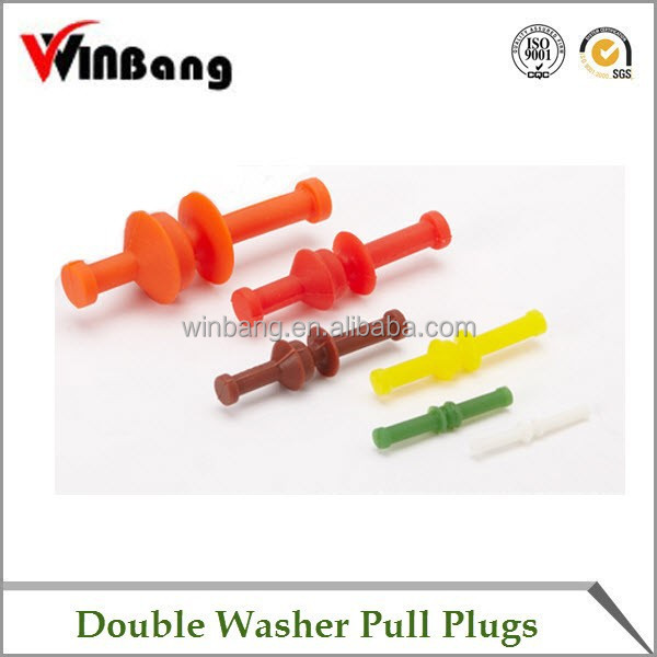 High Quality Masking Silicone Rubber Plugs with Double Washer