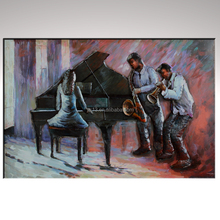 Musical dance party home decoration Piano player Metal wall art painting
