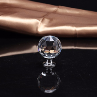Door cabinet Knob 30mm diamond shape crystal glass cupboard drawer handle