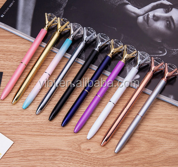 manufacture supply hot selling beauty luxury crystal ball pen