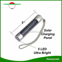 5 LED Solar Flashlight Super Bright Handheld for Home, Camping, Travel and Office
