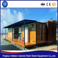 20ft 40ft flat pack prebuilt light steel wooden container house portable villa prefabricated home prefab container