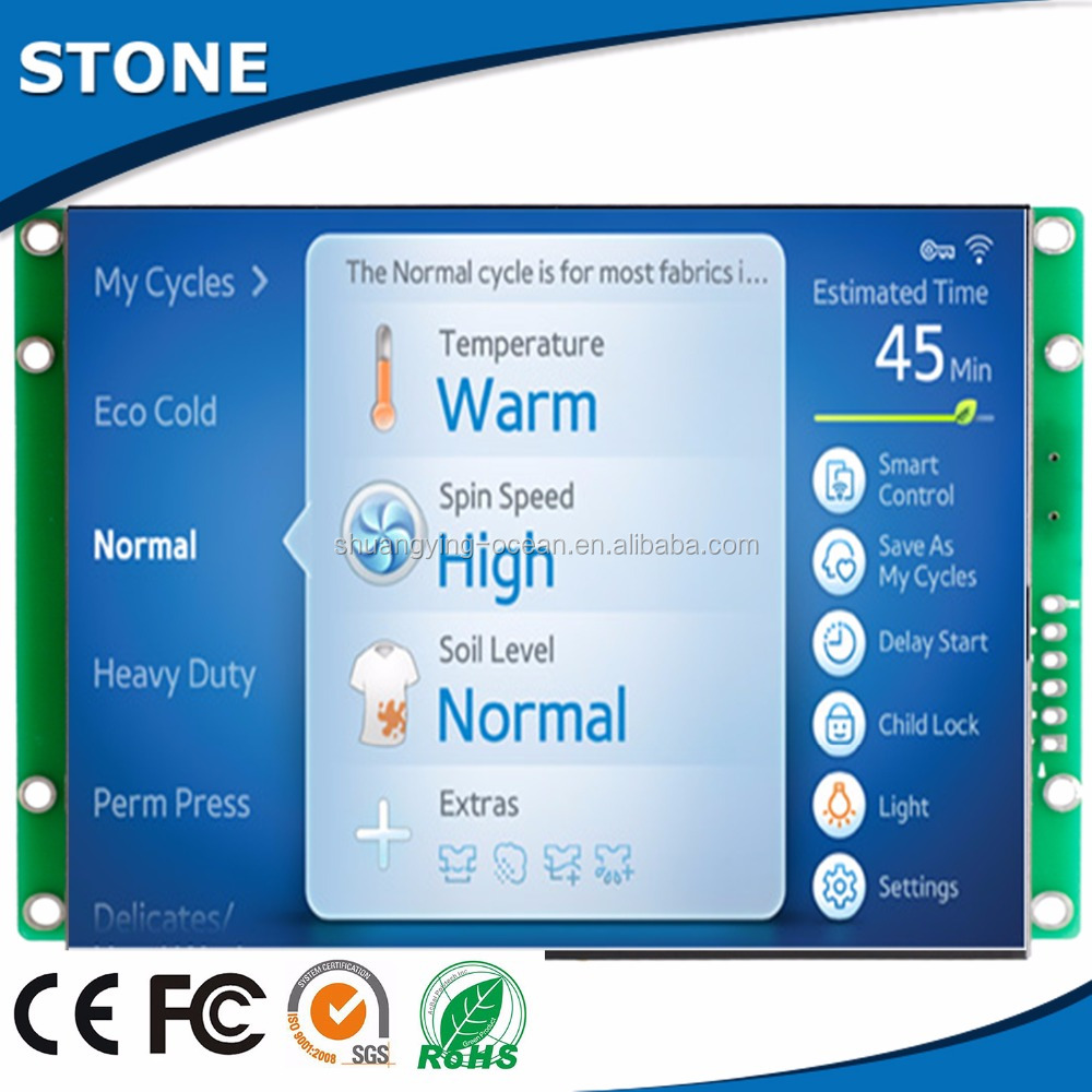 LED backlight 5 inch 800 *480 tft lcd touch panel controller by MCU instructions