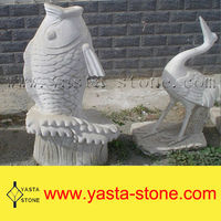 Lowest Price Large White Stone Fish Sculpture