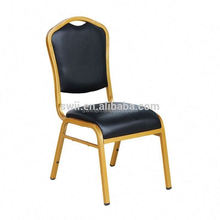 Silver frames Meeting Training Conference Upholstered Banqueting Restaurant Chairs White Round Back stacking Steel banquet Chair