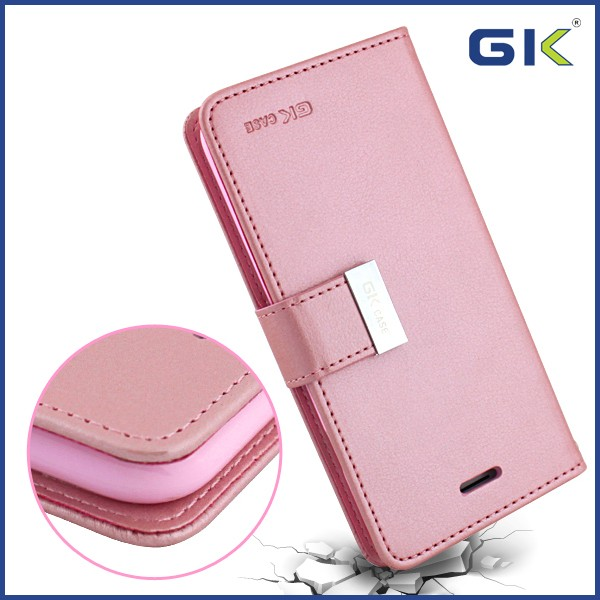 [GGIT] Hot With Card Slot Magnetic Buckle Holster TPU+PU Flip Cover For IPhone 7 Leather Case