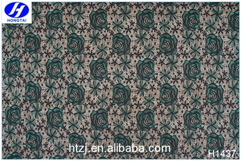 New lace patterns 3d rose flower lace guipure fabric