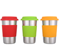 single layer stainless steel drinking cups with lids